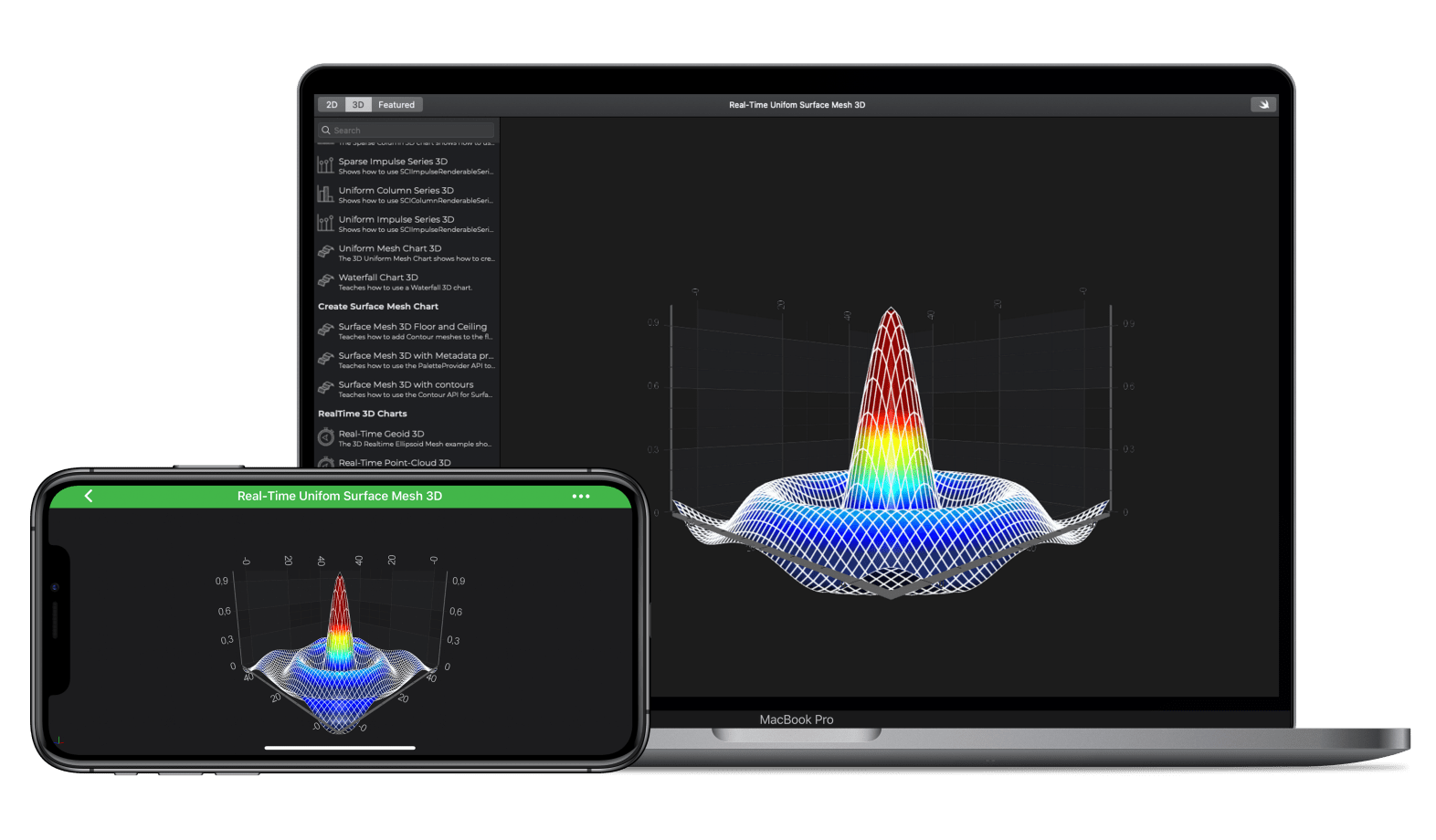 iOS & macOS  RealTime 3D Surface Mesh